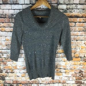 iZ Byer 3/4 Sleeve Cowl Sweater